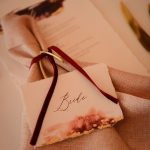 Bride and Groom napkin rings and placecards
